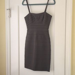 BCBG MAXAZRIA Taupe Bandage Dress